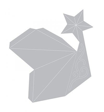 Stella Di Natale Tridimensionale.Fustella Di Stella Di Natale 3d