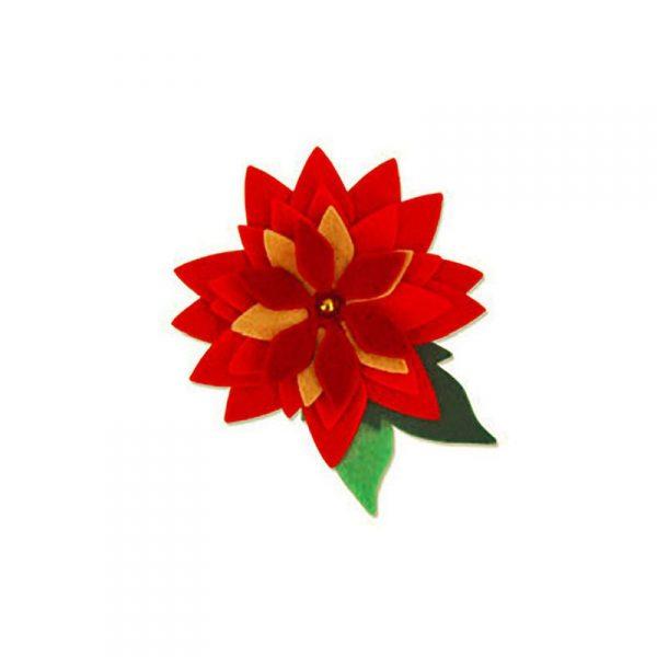 Stella Di Natale In Stoffa.Fustella Pretty Poinsetta Stella Di Natale Vinciart