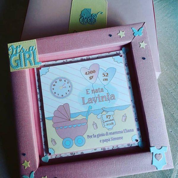 quadro Nascita con scatola